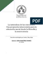 La Naturaleza de Las Emociones. Tesis Doctoral Sara Martinez Mares