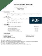 professional resume- ben barnett