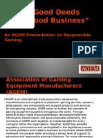 AGEM Responsible Gaming Presentation