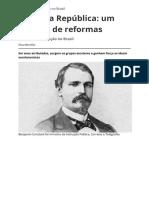 Primeira Republica Um Periodo de Reformas