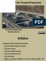 Disposal of the Sewage Effluents