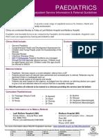 Paediatrics - Service Information and Referral Criteria - Review Jan 2017 V