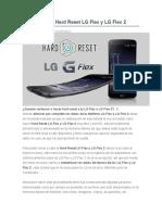 Desbloquear Hard Reset LG Flex y LG Flex 2