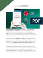 Desbloquear Hard Reset LG G3 Stylus
