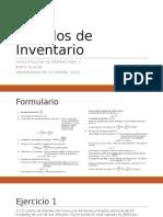 Modelos de Inventario(Ejercicios)