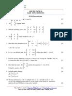 12 Mathematics Ch04 Determinants Test 04