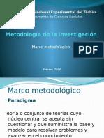 Metodología de La Investigación - Marco Metodológico