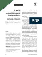 Exigibilidad Del Derecho a La Protección de La Salud en Los Servicios de Obstetricia en México