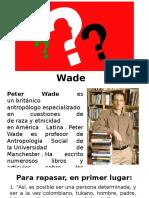 Identidad , Peter Wade