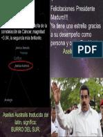 Asellus Australis y El Presidente Maduro