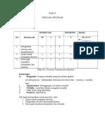 BAB III Rencana Program