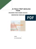 Panduan Field Trip Geologi  fisik  teknik geologi untad