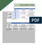 1.0 Cronograma de Estudos FEDERAL