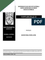 Guia Programatica Contabilidad IV