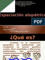 Especiacion alopatrica Carla Salazar.pptx