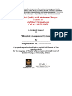 Project Sample- Hospital Management System (Smu)