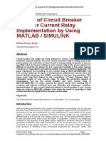Testing of Circuit Breaker and over Current Relay Implementation by Using MATLAB / SIMULINK