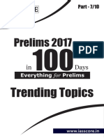 Trending Topics - Part 7 of 10 - Prelims in 100 Days - GS Score