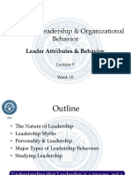 HRM 535 - Leadership Organizational Behavior