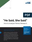 PTDC Analyze Fitness Research