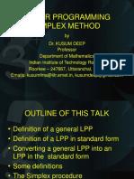 LP 5 Simplex Method