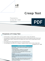 Creep Test