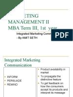 Marketing Management II