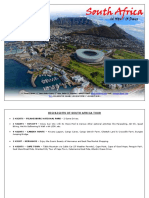 South Africa Itinerary - 2017.PDF