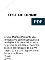 Test de Opinie - Eugen Enea Caraghiaur