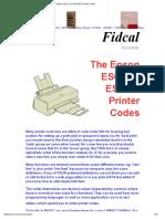 Epson ESC_P and ESC_P2 Printer Codes