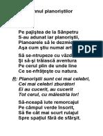 Imnul planoristilor - Petru Tamasdan