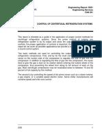 Control of Centrifugal Refrigeration Systems