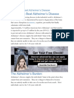 20 Ways to Beat Alzheimer