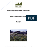 Biodiversity Research for Green Roofs