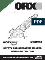 Worxsaw manual