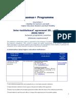 Erasmus + Bilateral Agreement