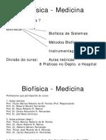 Biofísica Medicina Introducao2017