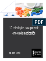10 Estrategias Para Prevenir Errores de Medicacion