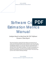 Software Cost Estimation Metrics Manual v15f