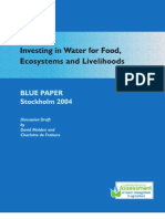 Investing in Water for Food, Ecosystems and Livelihoods