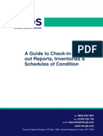 A Guide to Check in and Check Out Reports, Inventories and Schedules of Condition