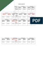 Cronograma de Clases
