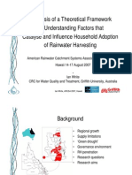 Factors that Influence Household Adoption of Rainwater Harvesting - Hawaii