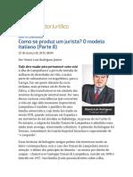 ConJur - Como Se Produz Um Jurista_ O Modelo Italiano (Parte 8)