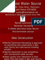 Rainwater Harvesting - A Reliable Alternative in the San Juan Islands
