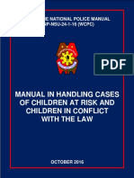 Manual in Handling Cases of Children at Risk and Children in Conflict With the Law