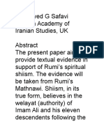 Moulana Rumi a Sufi Shia Muslim and His Matnavi