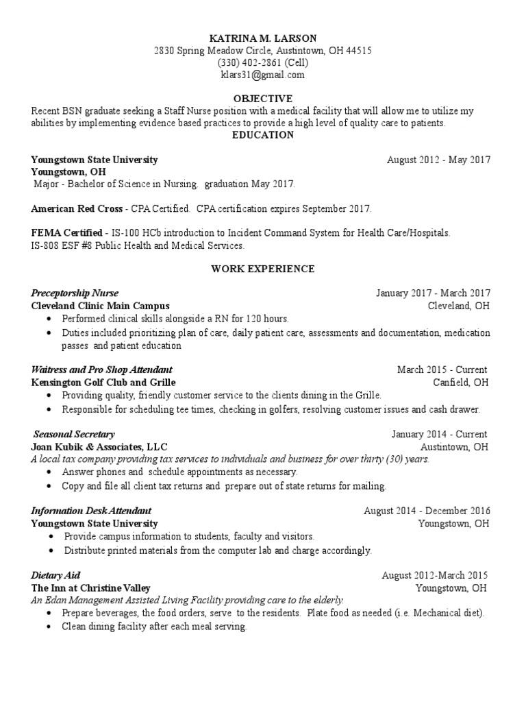 katrina resume | Nursing | Medicine