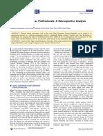 Chemistry Teachers as Professionals a Retrospective Analysis