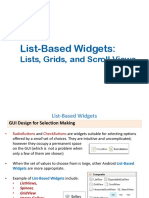 Android ListBased Widgets 1